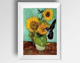 Van gogh Sunflowers, Modern and contemporary wall art print
