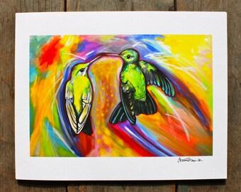 The kiss (Hummingbirds) - 11'' x 14''