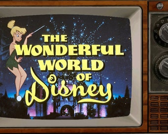 "The Wonderful World of Disney TV 2"" x 3"" Fridge Magnet Art Vintage nostalgic"