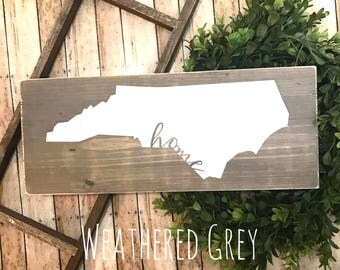 Ready to Ship | North Carolina | Home State | NC Home | State Decor | Home Decor | Wood Sign