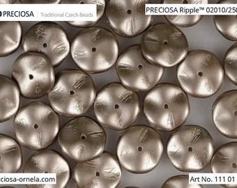 10 pcs Pastel Light Brown Coco Preciosa Ripple beads, 12x4 mm (10824)