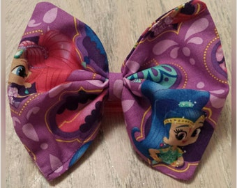 Shimmer and shine fabric bow