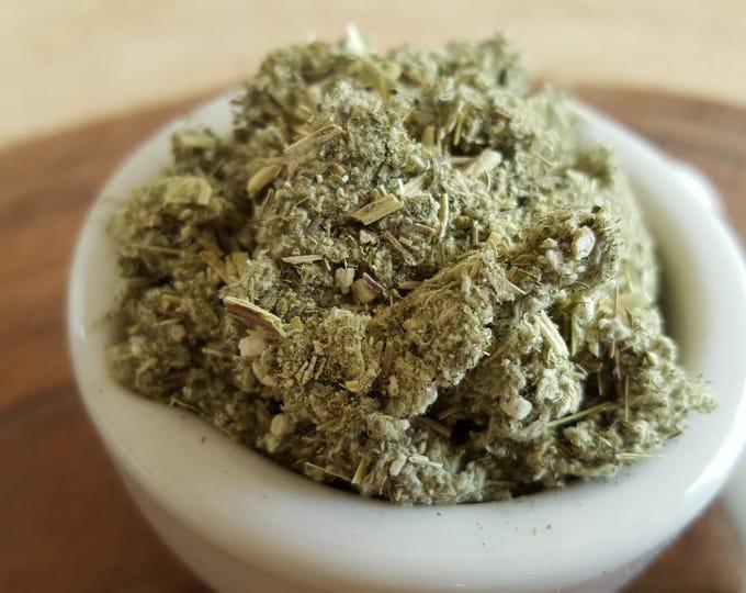 Organic dried Mugwort (Dream Weed, Black Sage, Magical Sage) Reiki infused, 1 ounce