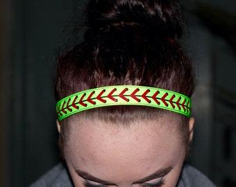 Girls Softball Headband,  Softball Gifts Sports Headbands for Women, Choice of Pattern & Size, Softball Girls Headbands for Girls