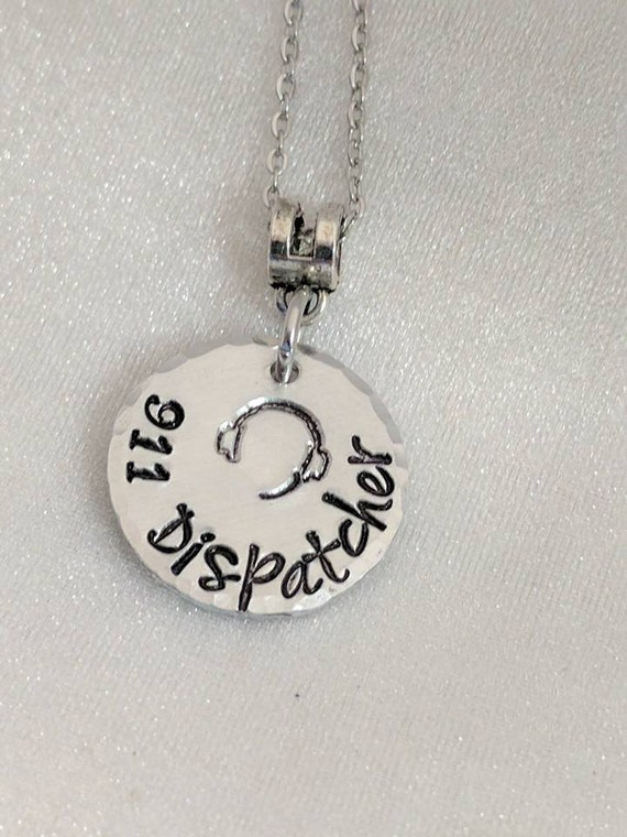 911 Dispatcher - 911 Dispatch Gift - Police Dispatcher Gift - Dispatcher Necklace - 911 Professional Gift - 911 Jewelry - Telecommunications