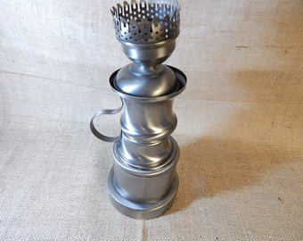 DIY Pewter Lamp - parts Vintage