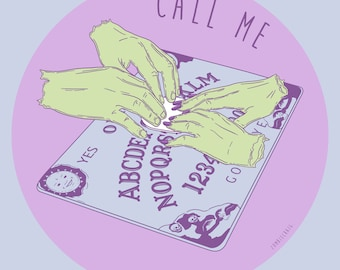 Call Me. Ouija Board. Pop Art Goth Punk Illustration Prints by zombieCraig