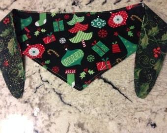 Tie-on Dog Bandana in CHRISTMAS TIME  -Small/Medium/Large/XLarge