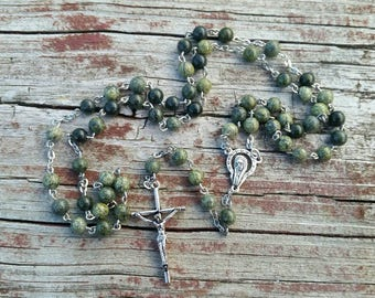 Catholic Rosary Beads Jasper