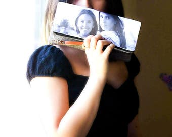 Personalized Gift for Her- Wristlet With Photo or Artwork- Unique Gift Idea