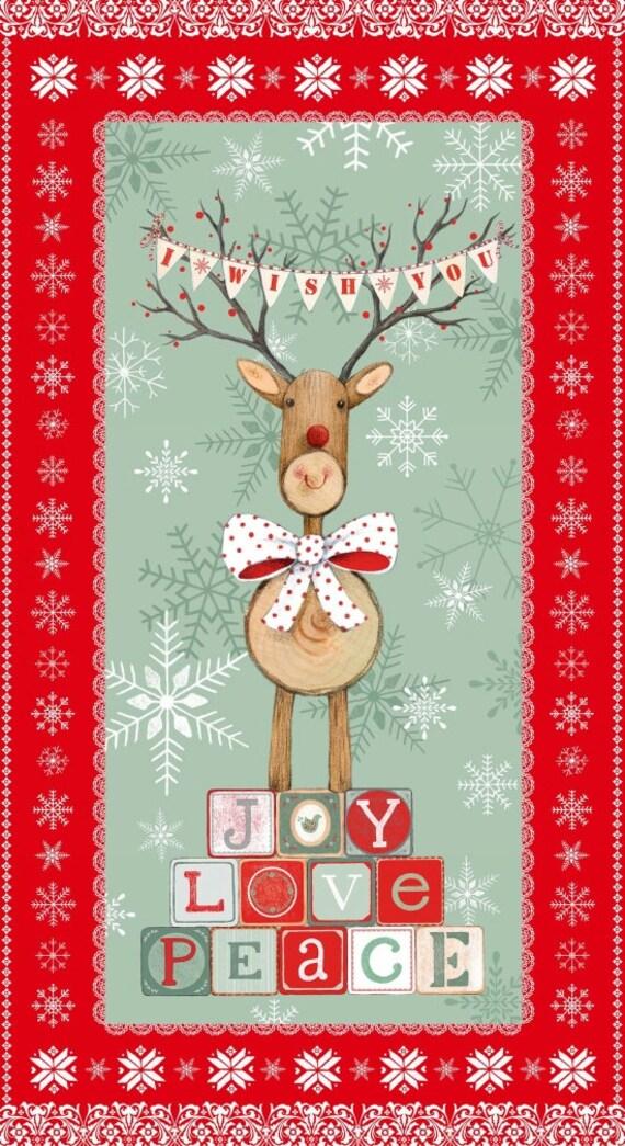 Joy Love Peace Christmas Panel