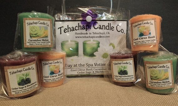 Votive - Scented Candle -Home Fragrance - Gift Set: Day at the Spa
