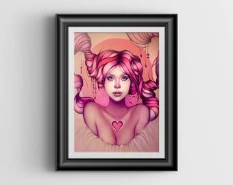 Last Piece signed art print - 8x10