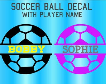 Personalized Soccer Ball Decal , Soccer Ball Name Decal, Soccer Name Decal, Water Bottle Decal, Car Decal