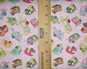 Quilt Camp Camper Toss Cotton Fabric [Choose Your Cut Size]