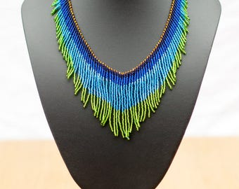 Huichol Fringe Necklace