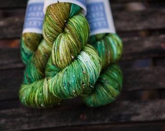 BFL Tweed Hand Dyed Superwash BFL and Nylon Sock Yarn