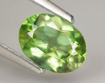 1.06 Ct Natural Unheated Green APATITE Oval Gem
