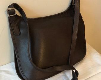 Vintage Coach Hippie Leather Mahogany Handbag // Coach Crossbody Handbag // Made in Costa Ricca - Coach - # 9134.