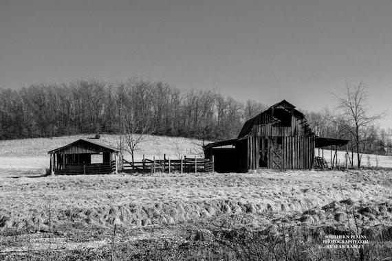 Rustic Barns black-and-white barn old barn print rustic barn art barn