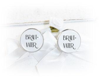 Cuff links, wedding, bride's father