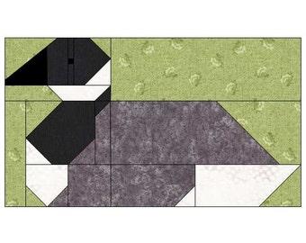 Canada Goose Quilt Block Pattern, PDF, Instant Download, modern patchwork, bird, animal, cute