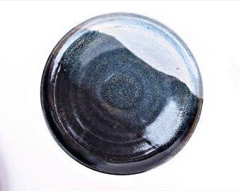 Vintage Handthrown Pottery Ceramic Plate Signed by Artist Food Blog Props