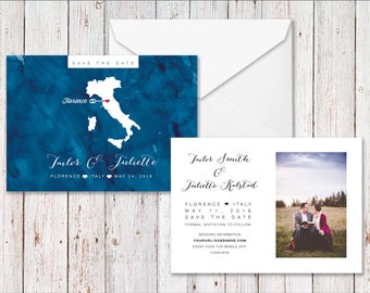 Save the date postcard - Photo Save the Date Postcard for Wedding - Wedding Save the Date Magnet, Personalized Photo Postcard