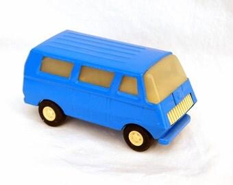 Vintage Blue Tonka Van Made in USA Toy Car 70s Toys Powder Steel Blue Metal Auto Push Mini Truck