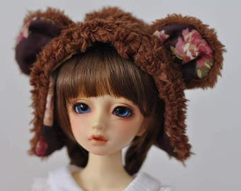 bear hat for BJD MSD size