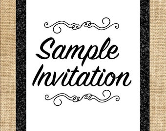 Sample Invitation-Sample Wedding Invitation-Sample Birthday Invitation