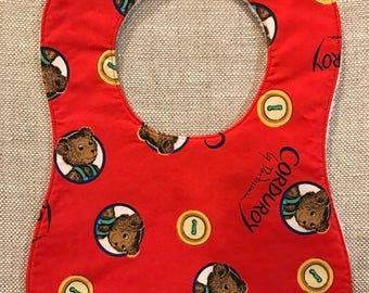 Baby Bib in Corduroy Bear