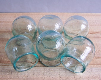 Set of 6 Vintage Soviet Massage Cups for Chinese Massage Therapy Home Decor Glass Cupping jar
