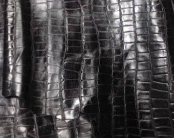EMB36 Leather Cow Hide Cowhide Craft Fabric Black Embossed Turtle 23 sq ft FREE SHIPPING