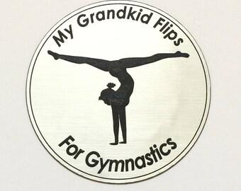 Girl's Gymnastics Magnet For Grandparent