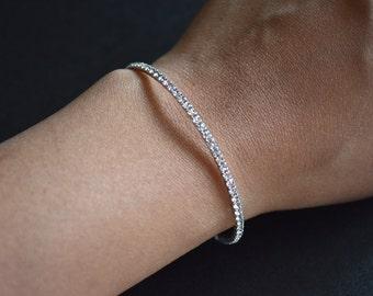 Silver Crystal Rhinestone Bracelet