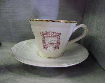 Connecticut collectible demitasse tea cup and saucer