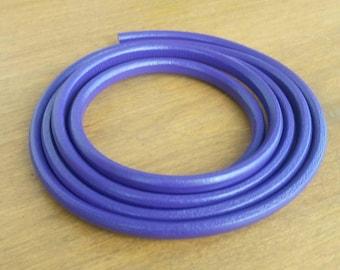 Purple Licorice Leather Cord 10X7mm- 20cm/8inches