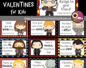 Wizard School Valentine's for Kids