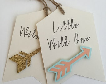 Boho Baby Shower Favor Tag, Wild One Favor Tags, Baby Arrow Tag, Feather Baby Tag, Bohemian Baby Shower Decor