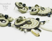 Soutache Earrings Toscana  Moon   (long) -  - Made in Italy -