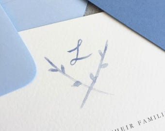 Simple Branches Wedding Suite / Watercolor Wedding Crest