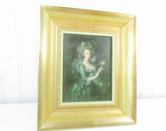Victorian painting, oil painting, lady, framed art, portrait, gold frame,oil on board,wall decor