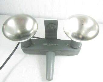 Keystone Light Bar, Camera Accessories, Vintage Camera Equipment, Two Bulb Camera Light, Electric Camera Light, Made In The USA