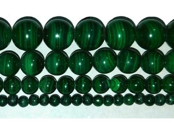 AAA Malachite Beads Genuine Real Stone 4mm-6mm-8mm-10mm Real Stone 15.5 inch Strand