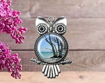 Tree By The Sea Owl Pendant