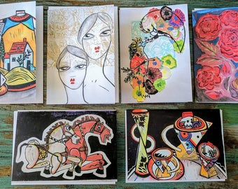 Mixed Media Collection -Greeting Cards by Australian Artist Samantha Thompson