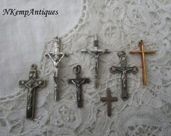 Vintage crucifix x 7