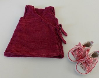 Knitting Pattern for Grace Baby Pinafore