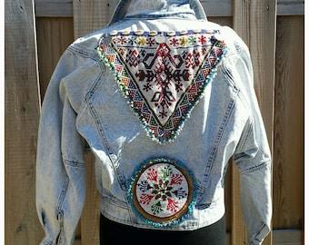 S/M Embellished Jacket *VINTAGE * Boho